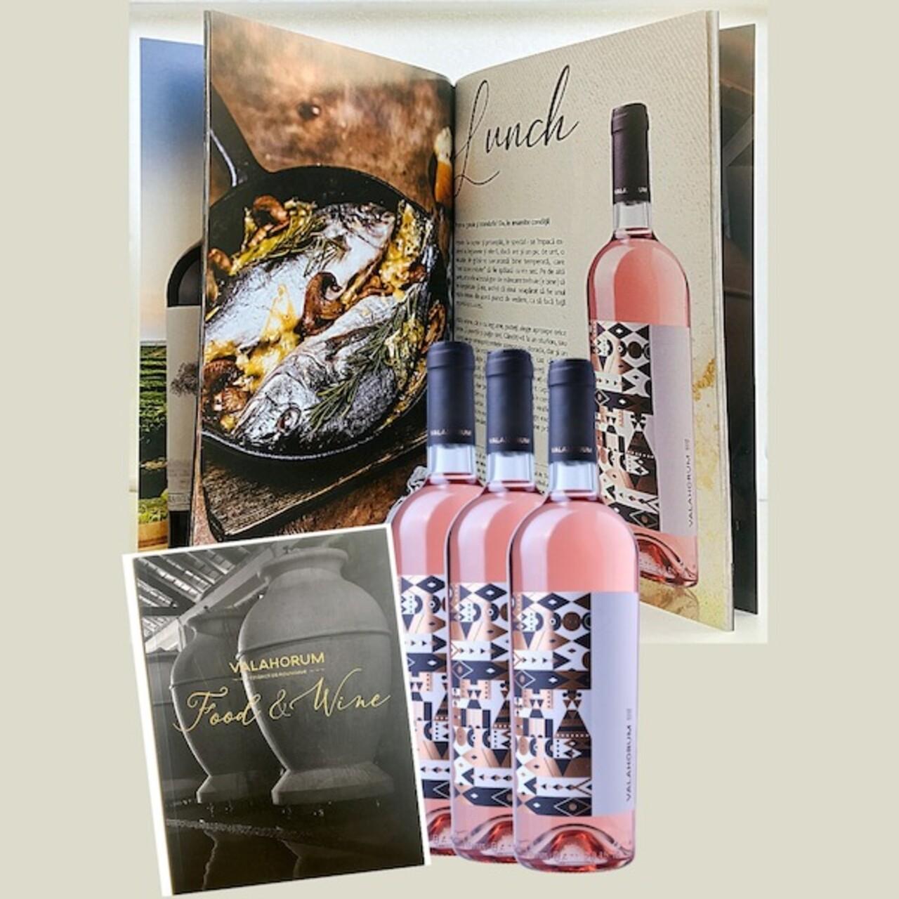 Pachet 3 st. Valahorum Rose Busuioaca de Bohotin + Catalog Food&Wine de asocieri