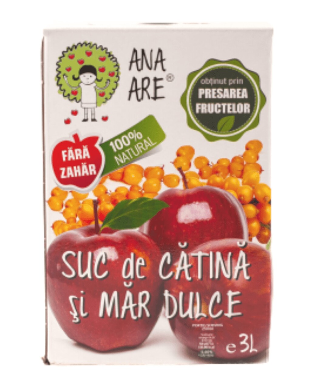 Suc de Mere & Catina 100% Natural Ana Are 3L
