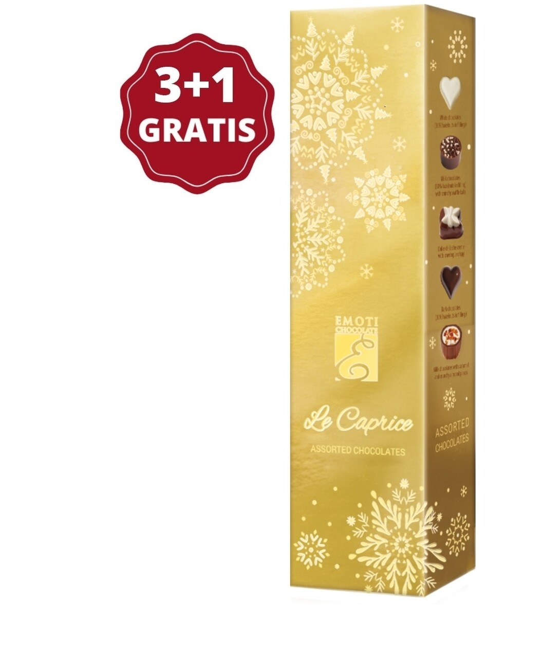 Pachet 3+1 Emoti Le Caprice (Assorted Chocolates) 65g
