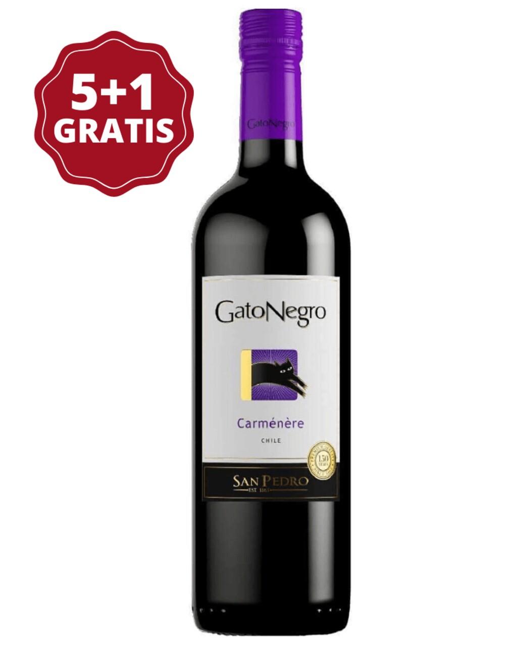 San Pedro Gato Negro Carmenere 5+1