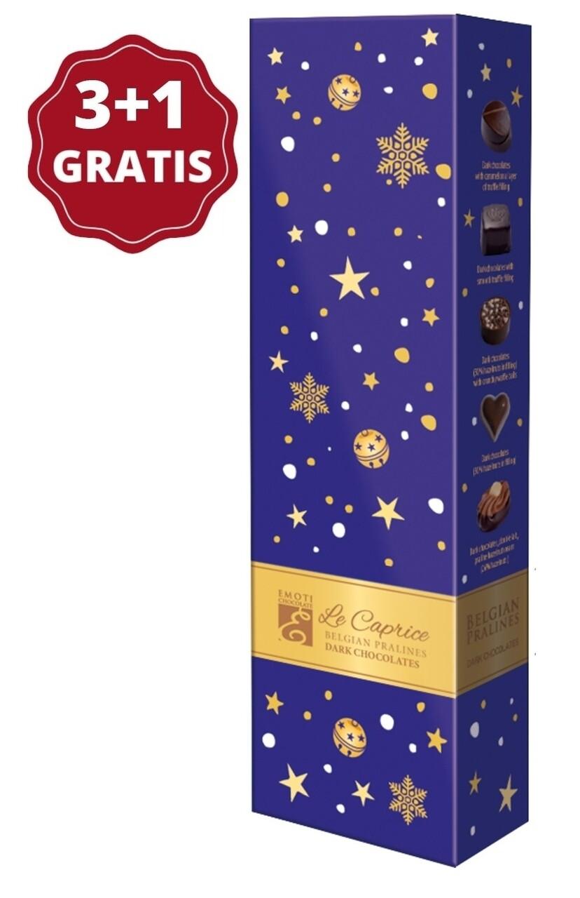Pachet 3+1 Emoti Le Caprice (Dark Chocolates) 65g