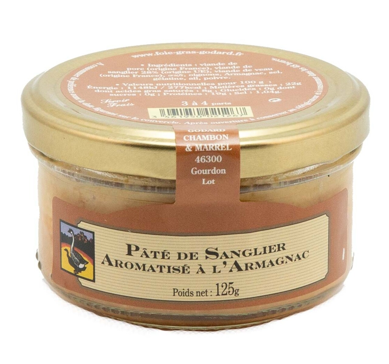 Pate de mistret cu Armagnac, Godard Chambon & Marell, 125g