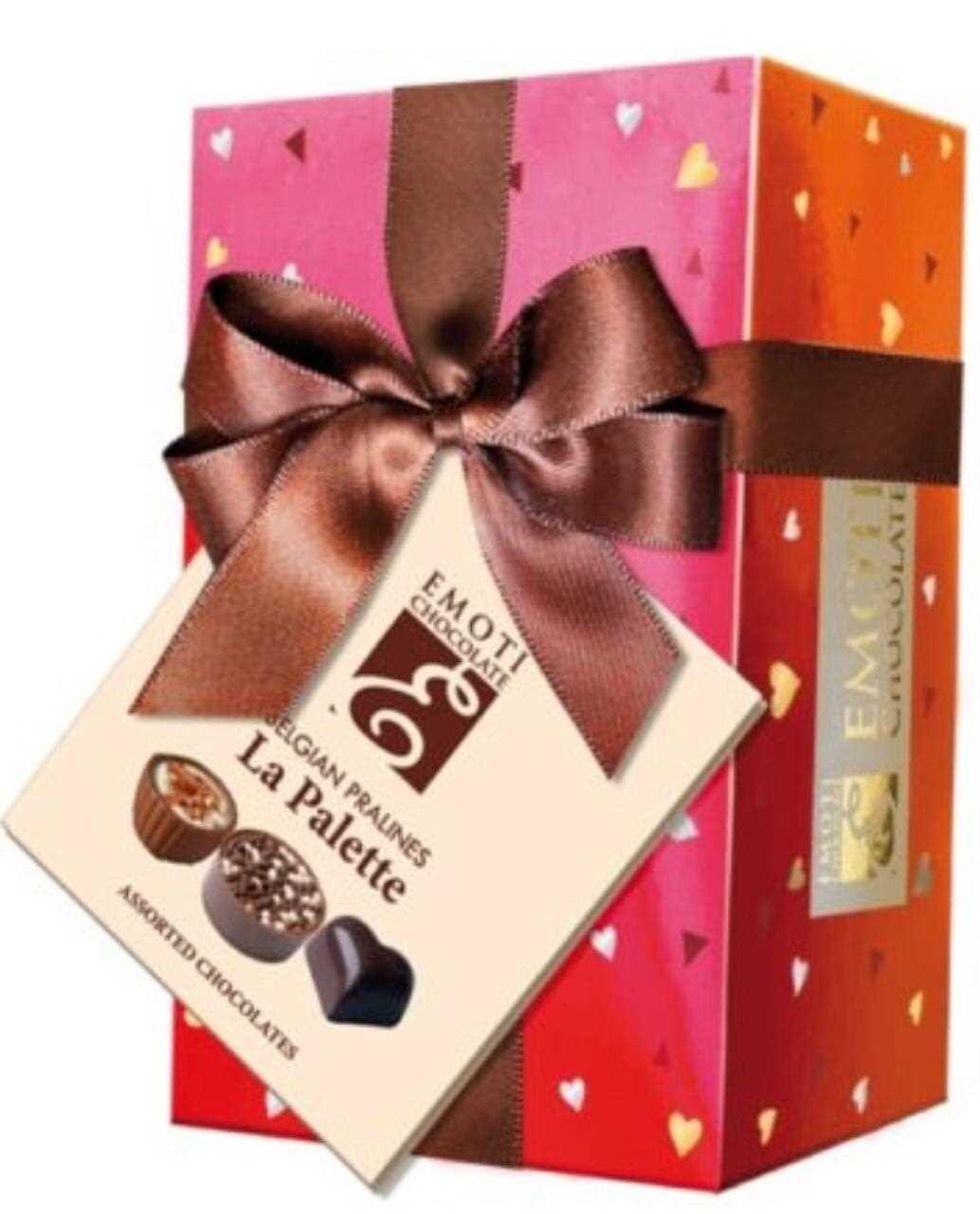 Emoti La Palette (Assorted Chocolates) Cutie cu Funda maro 75g