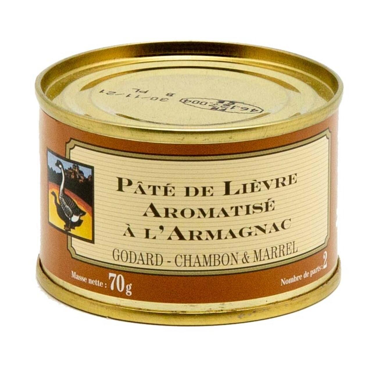 Pate de iepure cu Armagnac, Godard Chambon & Marell, 70g