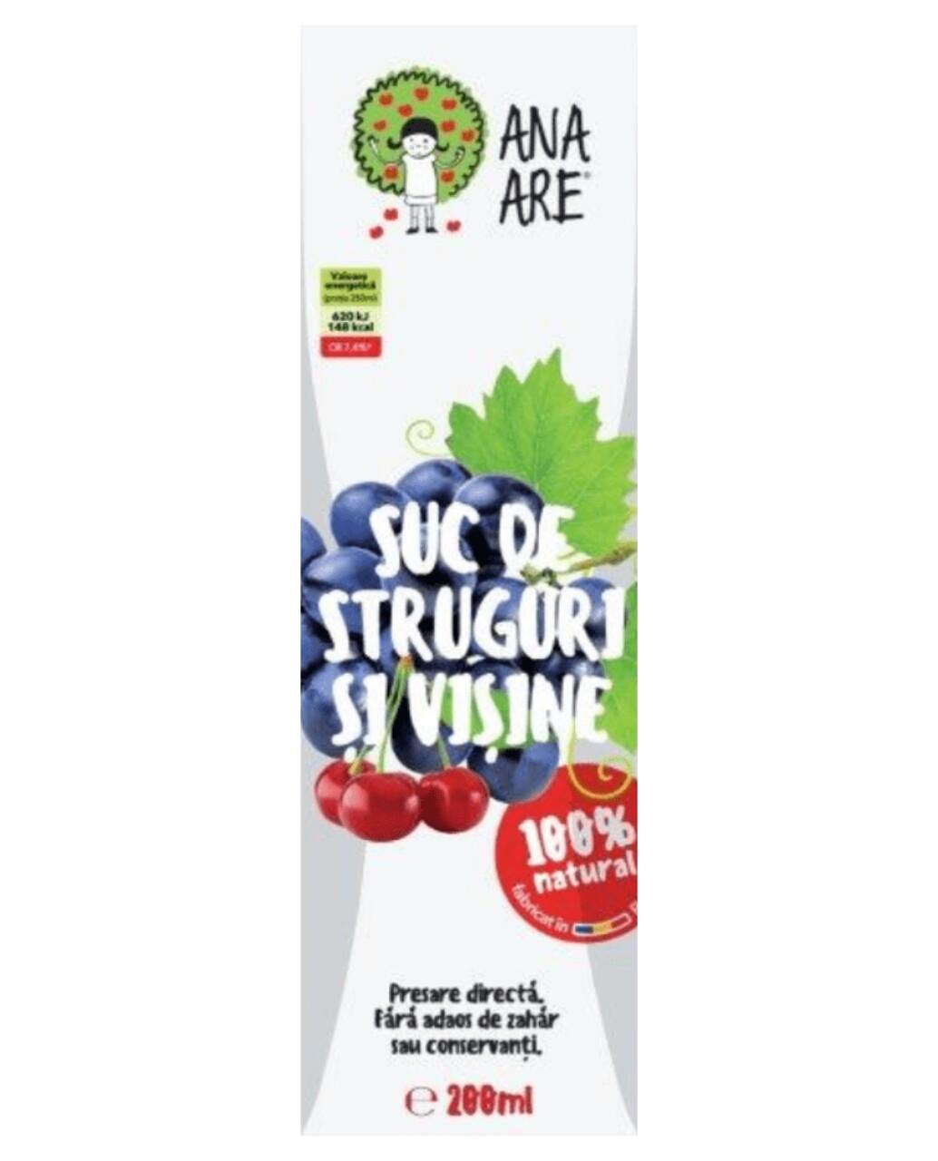 Suc de Struguri & Visine 100% Natural Ana Are 24X 0.2L