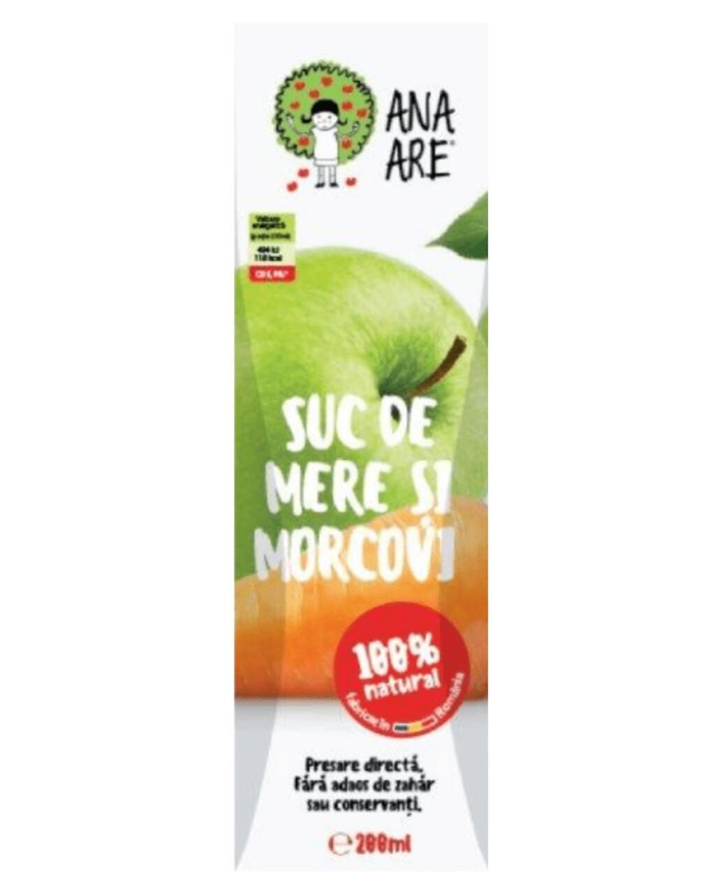 Suc de Mere & Morcovi 100% Natural Ana Are 24X 0.2L