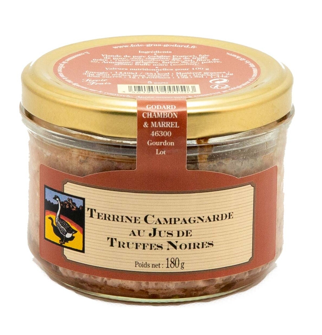 Terina taraneasca cu suc de trufe negre, Godard Chambon & Marell, 180g