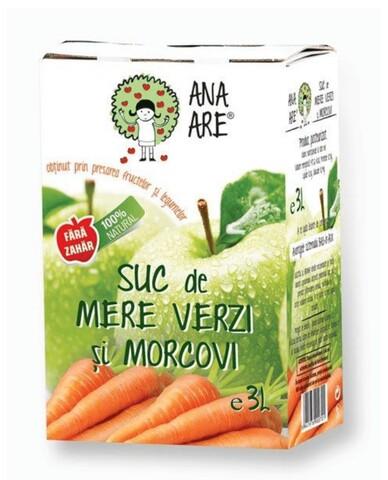 Suc de Mere Verzi & Morcovi 100% Natural Ana Are 3L