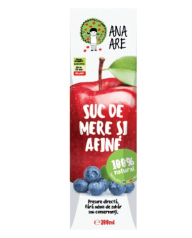 Suc De Mere & Afine 100% Natural Ana Are 24X 0.2L