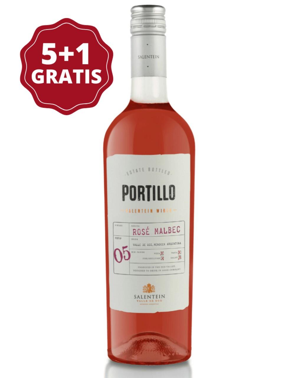 Portillo Rose Malbec 5+1