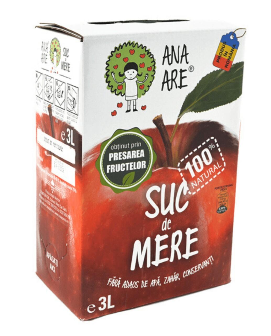 Suc de Mere 100% Natural Ana Are 3L