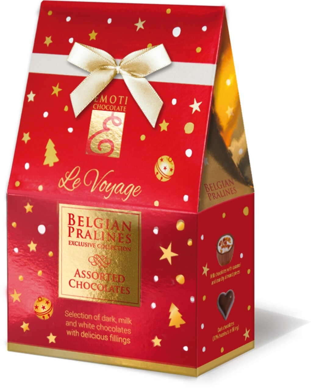 Emoti Le Voyage (Assorted Chocolates) Cutie cu funda 75g