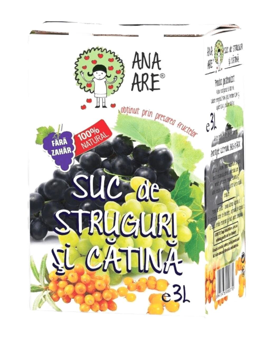 Suc de Struguri & Catina 100% Natural Ana Are 3L
