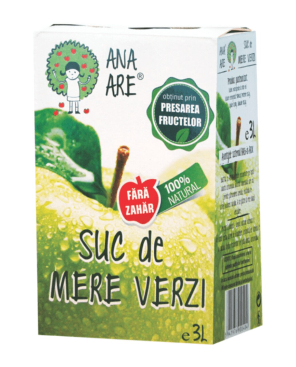 Suc de Mere Verzi 100% Natural Ana Are 3L