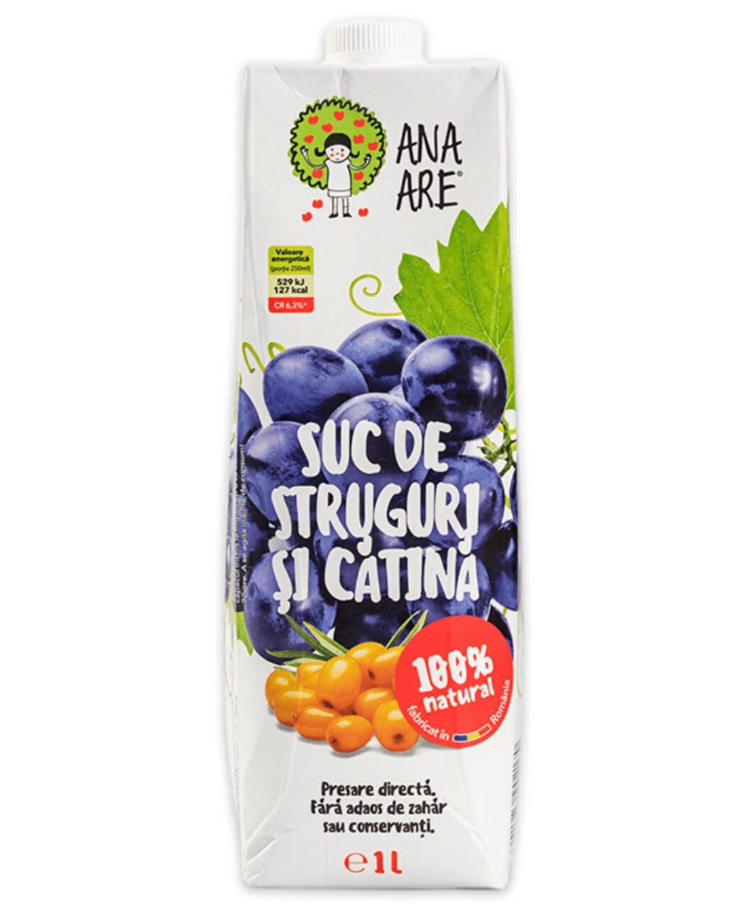 Suc de Struguri & Catina 100% Natural Ana Are  12X 1L