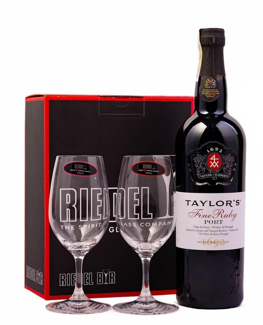 Set 2 Pahare Riedel Vinum Port + Cadou Taylor's Fine Ruby