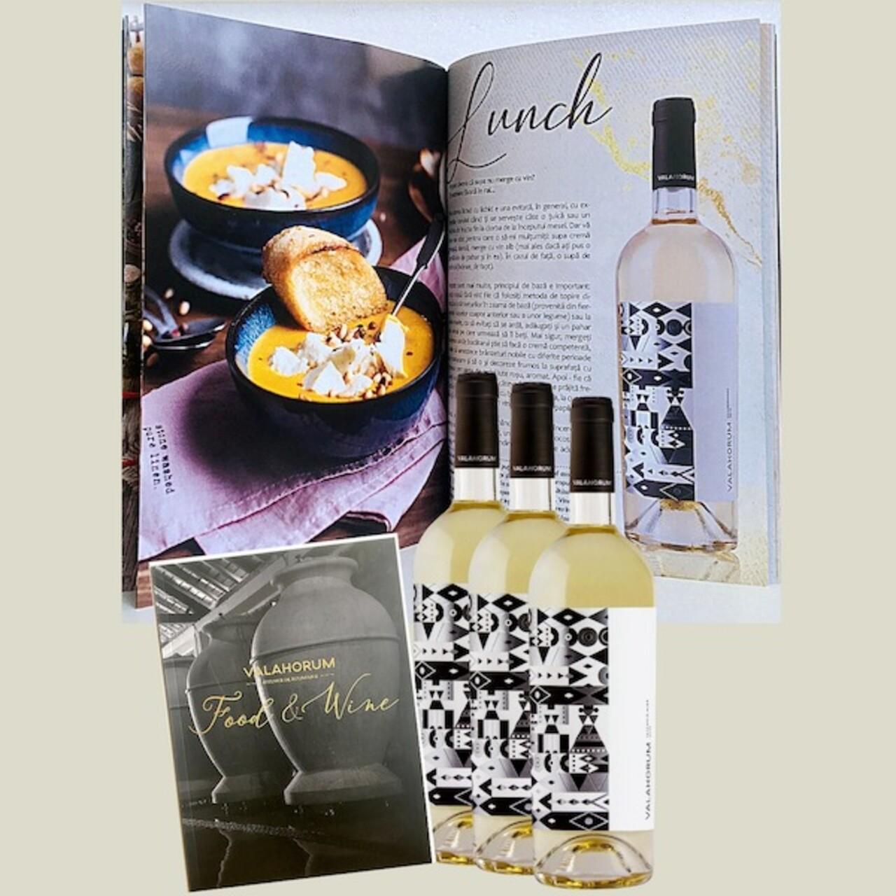 Pachet 3 st. Valahorum Alb Sauvignon Blanc + Catalog Food&Wine de asocieri