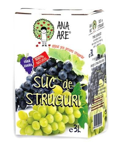 Suc de Struguri Albi 100% Natural Ana Are 3L
