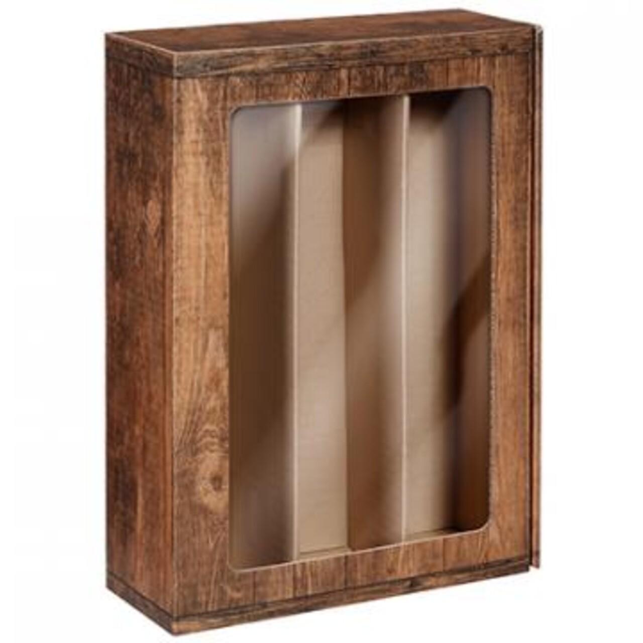 Cutie 3st. Vintage cu fereastra, imitatie lemn