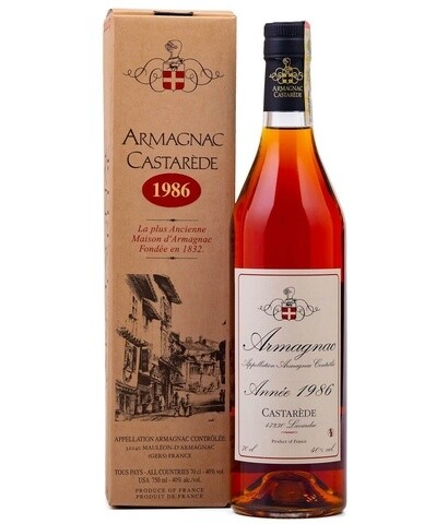 Armagnac Castarede 1986 0.5L