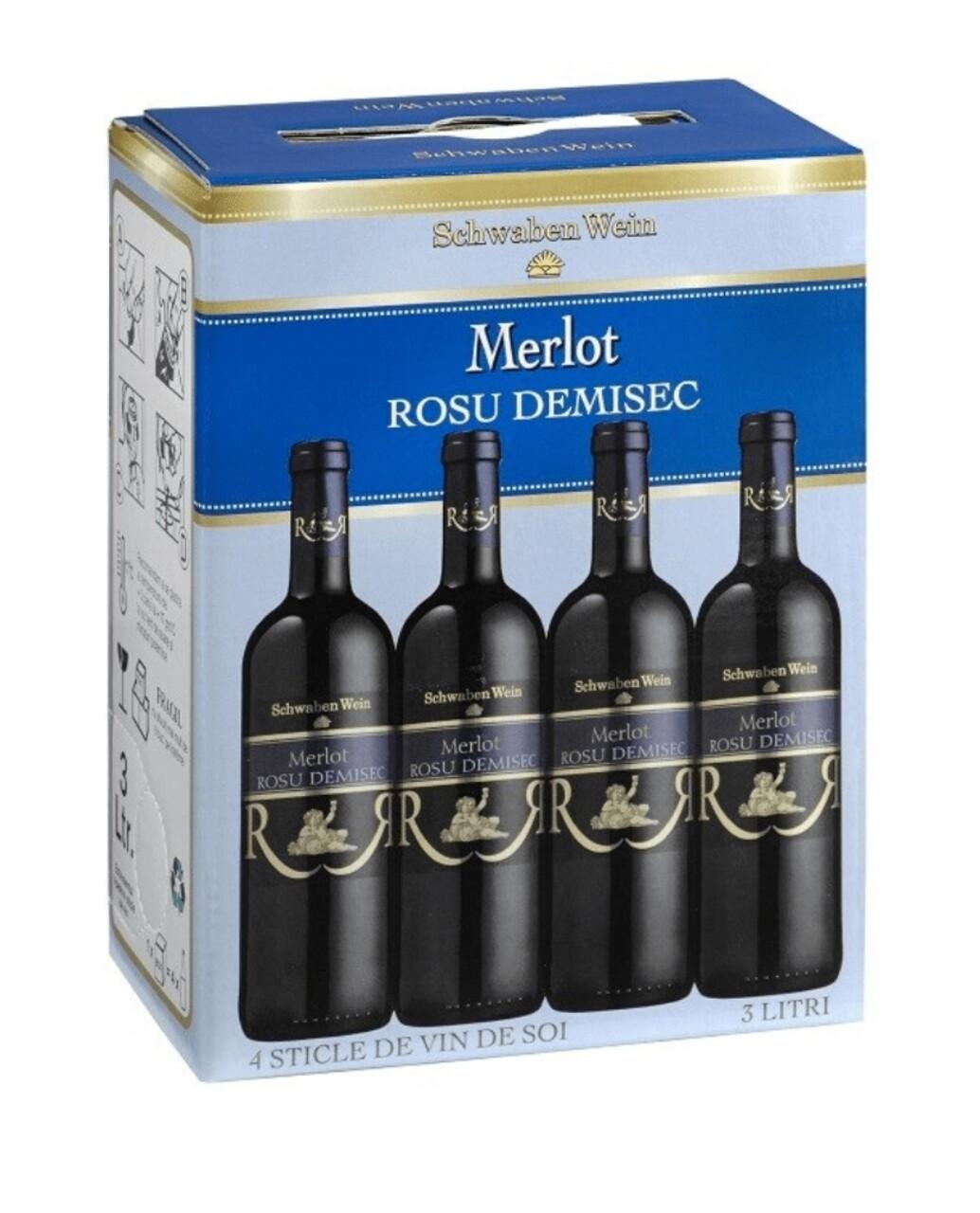 Recas Schwaben Wein Merlot BIB 3L