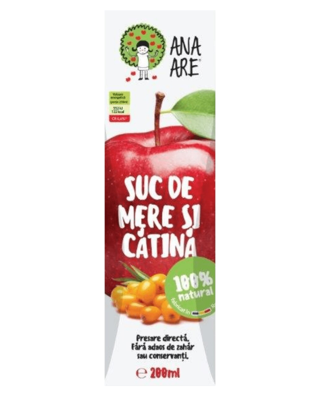 Suc de Mere & Catina 100% Natural Ana Are 24X 0.2L