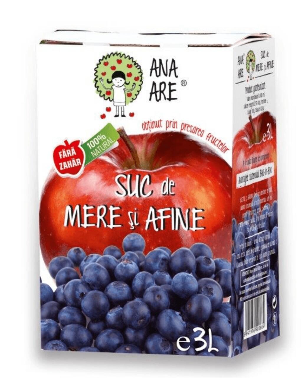 Suc De Mere & Afine 100% Natural Ana Are 3L