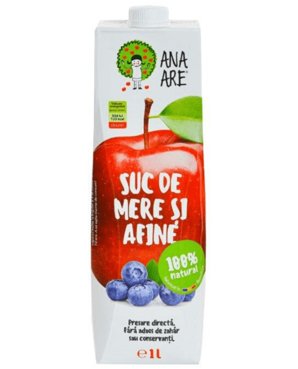 Suc De Mere &  Afine 100% Natural Ana Are 12X 1L